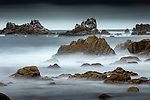 USA, California, Monterey Bay , rocky coastline