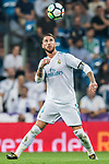Sergio Ramos of Real Madrid in action during the La Liga 2017-18 match between Real Madrid and Real Betis at Estadio Santiago Bernabeu on 20 September 2017 in Madrid, Spain. Photo by Diego Gonzalez / Power Sport Images