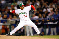 Antonio Osuna of Mexico during the World Baseball Championships at Angel Stadium in Anaheim,California on March 16, 2006. Photo by Larry Goren/Four Seam Images
