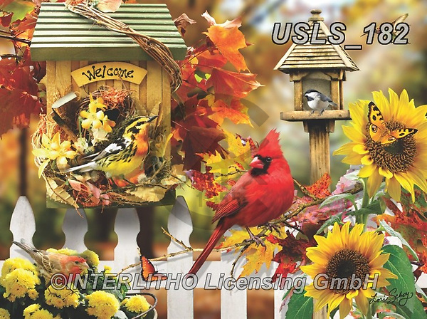 Lori, REALISTIC ANIMALS, REALISTISCHE TIERE, ANIMALES REALISTICOS, zeich, paintings+++++Fall Birdhouse_2_3_72,USLS182,#a#, EVERYDAY ,puzzle,puzzles