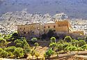 Turkey 1997 .Vue sur le monastere de Dar Zafaran dans la region de Tour Abdin.Turquie 1997.Vue sur le monastere de Dar Zafaran dans la region de Tour Abdin