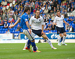 St Johnstone v Ross County...17.08.13 SPFL<br /> Stevie May scores to make it 3-0<br /> Picture by Graeme Hart.<br /> Copyright Perthshire Picture Agency<br /> Tel: 01738 623350  Mobile: 07990 594431
