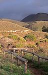 View of mountain from beach at Montana de Oro State Park, California near Los Osos and San Luis Obispo.
