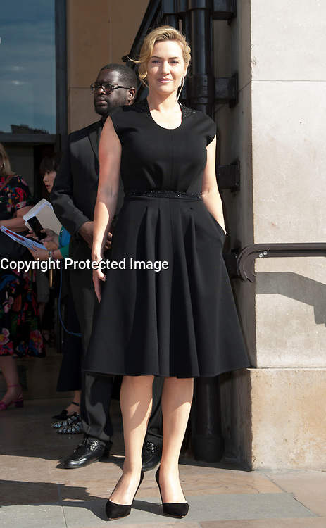 July 4 2017, PARIS FRANCE Actress Kate Winsley arrives at the Armani Haute Couture Fall : Winter 2017 - 2018 Paris Fashion Week # KATE WINSLEY ARRIVE AU DEFILE ARMANI