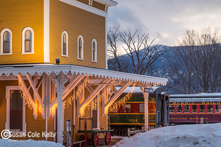 The Conway Scenic Railroad in Conway, New Hampshire, USA