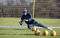 Goalkeeper Ryan Allsop of Wycombe Wanderers during the Wycombe Wanderers Training session at Wycombe Training Ground, High Wycombe, England on 17 January 2019. Photo by Andy Rowland.