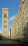 Giotto Campanile and 14th c Facade at Sunrise Santa Maria del Fiore Florence