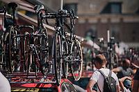 Team Lotto-Soudal spare bikes<br /> <br /> Stage 9: Arras Citadelle > Roubaix (154km)<br /> <br /> 105th Tour de France 2018<br /> ©kramon