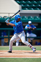 Toronto Blue Jays Mc Gregory Contreras (25) at bat during an Instructional League game against the Detroit Tigers on October 12, 2017 at Joker Marchant Stadium in Lakeland, Florida.  (Mike Janes/Four Seam Images)