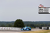 #10: Alex Palou, Chip Ganassi Racing Honda takes the checkered flag