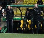 03.03.2021 Livingston v Rangers: Gary McAllister and Michael Beale managing