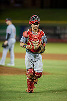 AZL Reds catcher Valentin Martinez (37) on defense against the AZL Giants on August 12, 2017 at Scottsdale Stadium in Scottsdale, Arizona. AZL Giants defeated the AZL Reds 1-0. (Zachary Lucy/Four Seam Images)