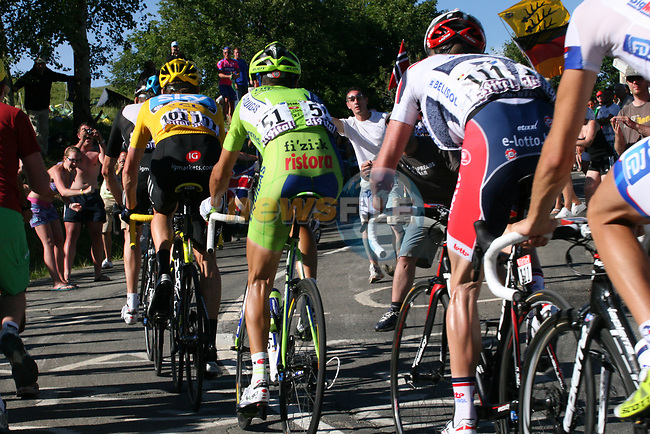 The main group of GC contenders climb during Stage 11 of the 99th edition of the Tour de France 2012, running 148km from Albertville to La Toussuire Les Sybelles, France. 12th July 2012.<br /> (Photo by Thomas van Bracht/NEWSFILE)