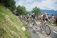André Greipel (DEU/Lotto-Soudal) & Marcel Kittel (DEU/Etixx-Quickstep) proceeding the peloton (with yellow jersey Chris Froome) up the first (uncategorised) climb together; the Collet de Tamié (8.1km @7%)<br /> <br /> Stage 19:  Albertville › Saint-Gervais /Mont Blanc (146km)<br /> 103rd Tour de France 2016