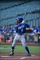 Kansas City Royals outfielder Rudy Martin (9) at bat during an Instructional League game against the Arizona Diamondbacks at Chase Field on October 14, 2017 in Scottsdale, Arizona. (Zachary Lucy/Four Seam Images)