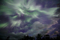 Summer Solstice aurora corona, Upper Peninsula of Michigan