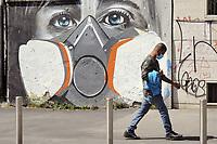 - Milano, arte di strada ai tempi del'epidemia di Coronavirus<br /> <br /> - Milan, street art at the time of the Coronavirus epidemic