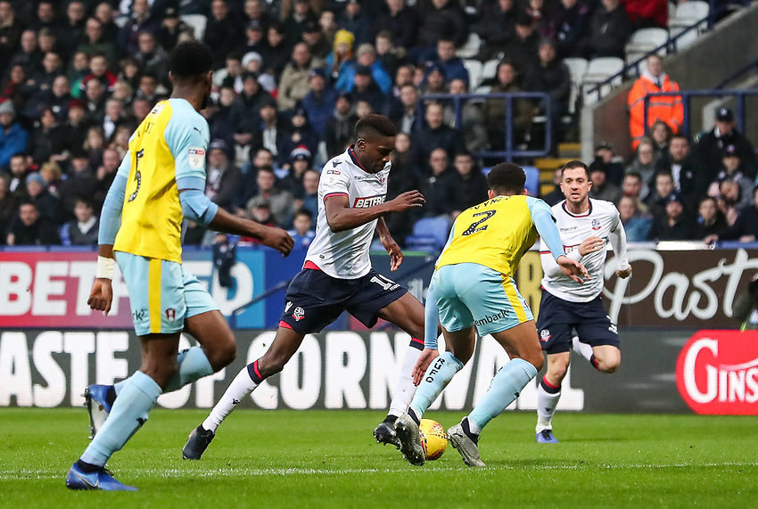 Bolton Wanderers' Sammy Ameobi breaks<br /> <br /> Photographer Andrew Kearns/CameraSport<br /> <br /> The EFL Sky Bet Championship - Bolton Wanderers v Rotherham United - Wednesday 26th December 2018 - University of Bolton Stadium - Bolton<br /> <br /> World Copyright © 2018 CameraSport. All rights reserved. 43 Linden Ave. Countesthorpe. Leicester. England. LE8 5PG - Tel: +44 (0) 116 277 4147 - admin@camerasport.com - www.camerasport.com