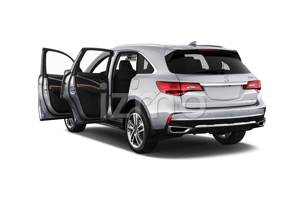 Car images close up view of a 2018 Acura MDX Sport Hybrid Advance Package 5 Door SUV doors