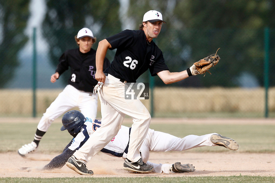 14 July 2011: Sean O'Hara of the PUC is seen during the 2011 Challenge de France match won 7-2 by the Savigny Lions over the PUC, in Les Andelys, near Rouen, France.