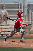 Cincinnati Reds catcher Garrett Boulware (53) during a Minor League Spring Training game against the Chicago White Sox at the Cincinnati Reds Training Complex on March 28, 2018 in Goodyear, Arizona. (Zachary Lucy/Four Seam Images)