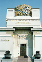 Josef Maria Olbrich: House of the Secession, Vienna 1898. Dome is 3000 gold-plated leaves and 700 berries. Ver Sacrum--Sacred Spring.  Photo '87.