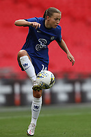 29th August 2020; Wembley Stadium, London, England; Community Shield Womens Final, Chelsea versus Manchester City; Fran Kirby of Chelsea Women controls the high pass