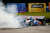 #9: Scott Dixon, Chip Ganassi Racing Honda celebrates winning