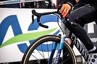 Mathieu van der Poel (NED)  pre race <br /> <br /> Men's Elite race<br /> UCI 2020 Cyclocross World Championships<br /> Dübendorf / Switzerland<br /> <br /> ©kramon