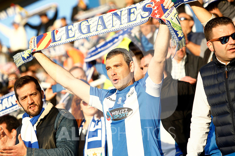 CD Leganes' supporters during La Liga match. February 25,2017. (ALTERPHOTOS/Acero)