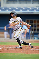 Bradenton Maruaders Daniel Amaral (43) bats during a Florida State League game against the Charlotte Stone Crabs on August 7, 2019 at Charlotte Sports Park in Port Charlotte, Florida.  Charlotte defeated Bradenton 2-0 in the first game of a doubleheader.  (Mike Janes/Four Seam Images)