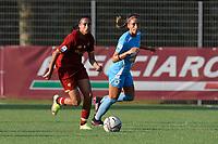 4th September 2021; Agostino di Bartolomei Stadium, Rome, Italy; Serie A womens championship football, AS Roma versus Napoli ; Andressa Alves of AS Roma and Eleonora Goldoni of Napoli
