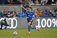 SAN JOSE, CA - AUGUST 17: Cade Cowell #44 of the San Jose Earthquakes during a game between Minnesota United FC and San Jose Earthquakes at PayPal Park on August 17, 2021 in San Jose, California.