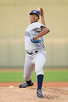 Wilmington Blue Rocks starting pitcher Miguel Almonte (27) in action against the Winston-Salem Dash at BB&T Ballpark on April 3, 2014 in Winston-Salem, North Carolina.  The Blue Rocks defeated the Dash 3-1.  (Brian Westerholt/Four Seam Images)