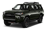 2020 Toyota 4Runner TRD-Pro 5 Door SUV Angular Front automotive stock photos of front three quarter view
