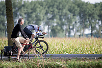 man on sandles versus Moritz Kärsten (DEU)<br /> <br /> Junior Men Individual Time Trial from Knokke-Heist to Bruges (22.3 km)<br /> <br /> UCI Road World Championships - Flanders Belgium 2021<br /> <br /> ©kramon