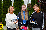 Amber O'Sullivan  Clodagh Sheahan  and Alison Moynihan  coming out of their Leaving Cert exam on Monday morning in St Brigids Presentation Killarney