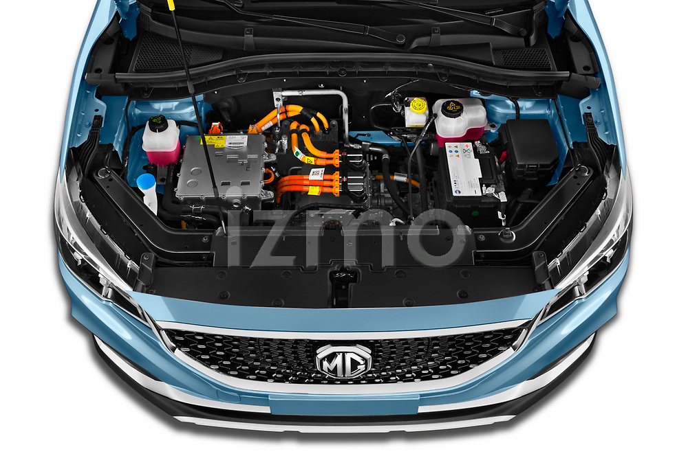 Car Stock 2020 Mg MG-ZS-EV Luxury 5 Door SUV Engine  high angle detail view