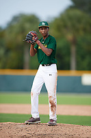 Ryan Davis (18), from Brandywine, Maryland, while playing for the Athletics during the Baseball Factory Pirate City Christmas Camp & Tournament on December 28, 2017 at Pirate City in Bradenton, Florida.  (Mike Janes/Four Seam Images)