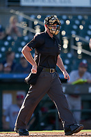 Umpire Taylor Payne during a Florida State League game between the Clearwater Threshers and Palm Beach Cardinals on August 10, 2019 at Roger Dean Chevrolet Stadium in Jupiter, Florida.  Clearwater defeated Palm Beach 11-4.  (Mike Janes/Four Seam Images)