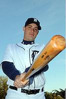 Feb 21, 2009; Lakeland, FL, USA; The Detroit Tigers catcher Jeff Kunkel (71) during photoday at Tigertown. Mandatory Credit: Tomasso De Rosa/ Four Seam Images