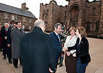 Fiona Hyslop, Cabient Secretary for Culture and External Affairs greets His Excellency Mr.Abdulaziz Abdullah Al-Hinai (Embassy of the Sultanate of Oman) on his arrival at Edinburgh Castle for a reception and dinner hosted by Alex Salmond First Minister of Scotland..Pic Kenny Smith, Kenny Smith Photography.6 Bluebell Grove, Kelty, Fife, KY4 0GX .Tel 07809 450119,