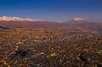 La Paz at dusk, Bolivia