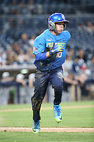 Nick Allen (10) of the West Team runs to first base during a game against the East Team during the Perfect Game All American Classic at Petco Park on August 14, 2016 in San Diego, California. West Team defeated the East Team, 13-0. (Larry Goren/Four Seam Images)