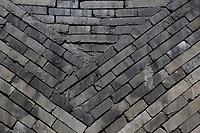 Suzhou, Jiangsu, China.  Brickwork inside a Reconstructed Kiln, Suzhou Museum of Imperial Kiln Brick.