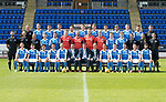 St Johnstone FC Season 2017-18 Photocall<br />Pictured back row from left, Manny Fowler Kit Manager, Ally Gilchrist, Graham Cummins, Liam Gordon, Chris Kane, Blair Alston, Jason Kerr, Joe Shaughnessy, Murray Davidson, Brian Easton, Keith Watson and George Browning U20 GK Coach.<br />Middle row from left, Tony Tompos, Head Physio, Paul Mathers GK Coach, Alistair Stevenson Youth Dev Manager, Kyle McClean, Paul Paton, Ben MacKenzie, Alan Mannus, Zander Clark, Mark Hurst, Scott Tanser, Liam Craig, Alex Headrick Sports Scientist, Mel Stewart Physio and Euan Peacock Chief Scout.<br />Front row from left, David Wotherspoon, Craig Thomson, Aaron Comrie, Stefan Scougall, Steven Anderson Captain, Callum Davidson Assistant Manager, Tommy Wright Manager, Alex Cleland Coach, Chris Millar Vice Captain, Michael O'Halloran, Greg Hurst, Steven MacLean and Richie Foster. <br />Picture by Graeme Hart.<br />Copyright Perthshire Picture Agency<br />Tel: 01738 623350  Mobile: 07990 594431