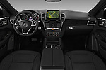 Stock photo of straight dashboard view of 2017 Mercedes Benz GLE-Coupe AMG-43 2 Door SUV Dashboard