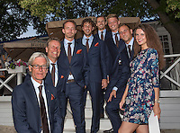 Moscow, Russia, 13 th July, 2016, Tennis,  Davis Cup Russia-Netherlands, Official Diner team with assistent Maria<br /> Photo: Henk Koster/tennisimages.com