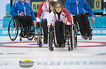 Sonja Gaudet, Sochi 2014 - Wheelchair Curling // Curling en fauteuil roulant.<br /> Canada takes on Finland in Wheelchair Curling // Le Canada affronte la Finlande au curling en fauteuil roulant. 13/03/2014.