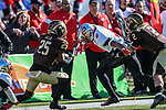 Western Michigan Broncos cornerback Kareem Ali (25) in action during the Servpro First Responder Bowl game between Western Michigan Broncos and the Western Kentucky Hilltoppers at the gerald Ford Stadiuml Stadium in Dallas, Texas.